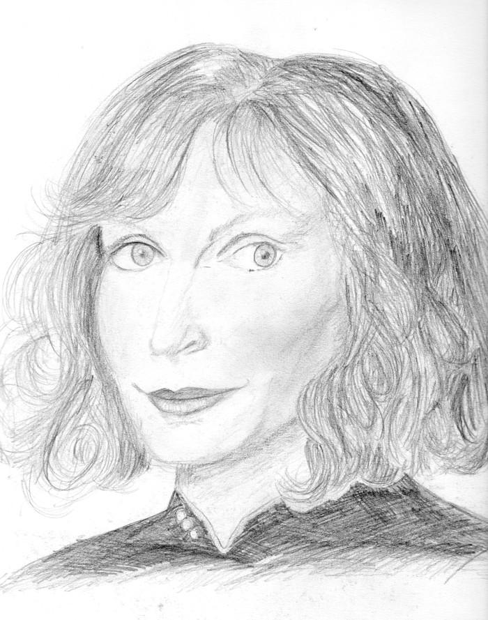 Beverly Crusher in pencil
