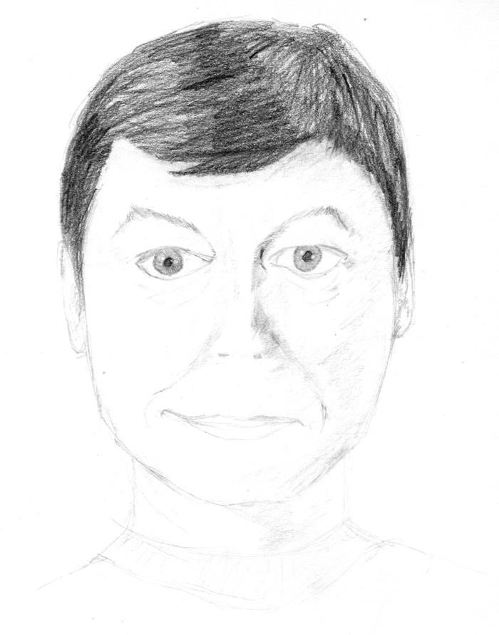 Dr McCoy in pencil