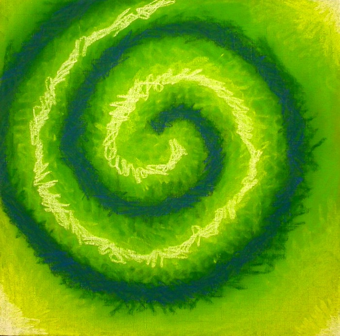 Green swirl of pastel