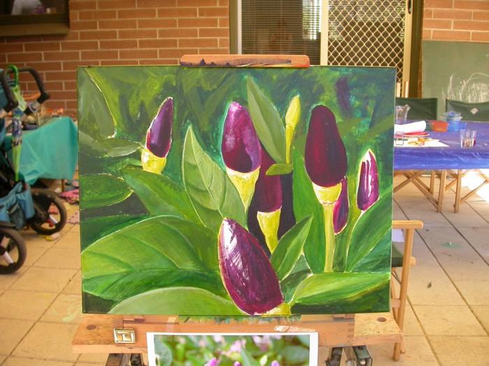 Chilli painting 1 in progress 2