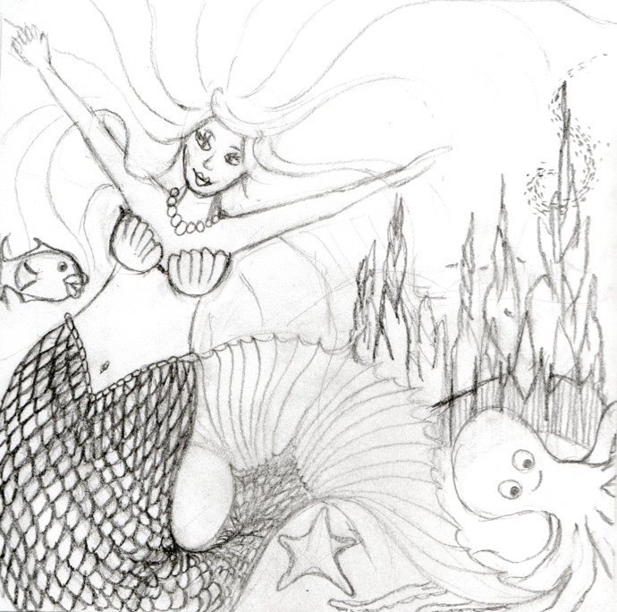 Mermaid 1 sketch