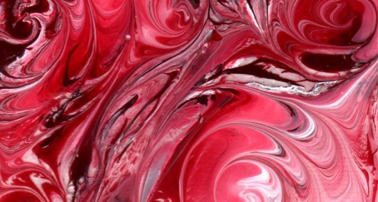 Crimson swirls close up