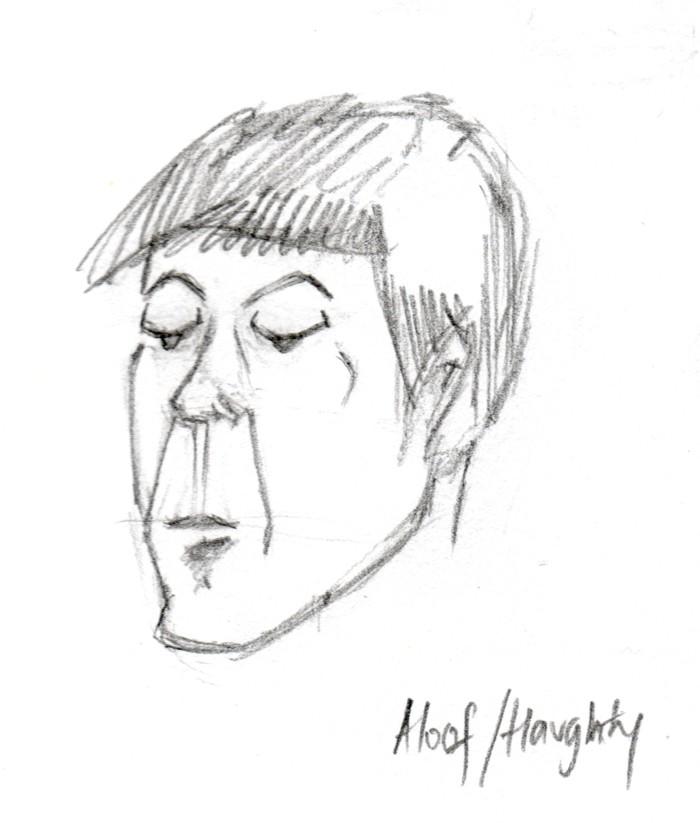 Aloof-haughty