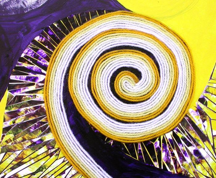 purple-yellow mosaic corner