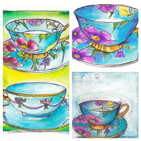 Madame flavour teacup by Tracey Fletcher King