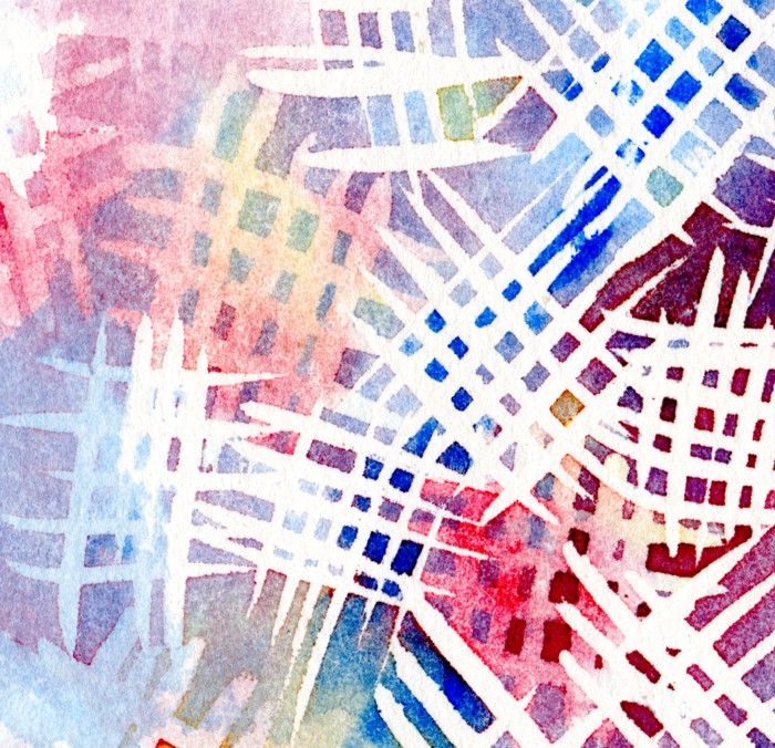 Watercolour and masking fluid experiment cut1