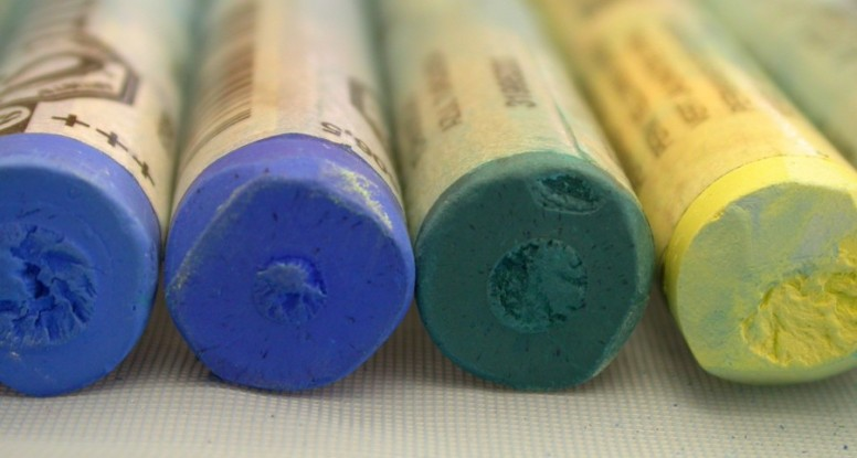 Pastel closeup