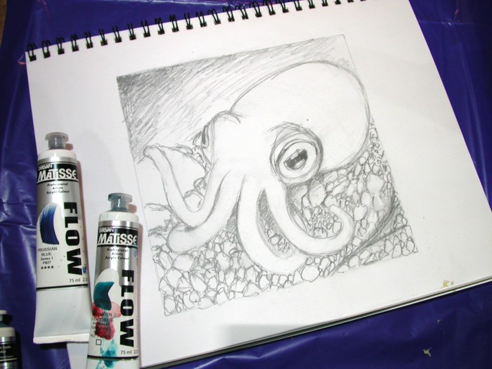 dumpling squid sketch