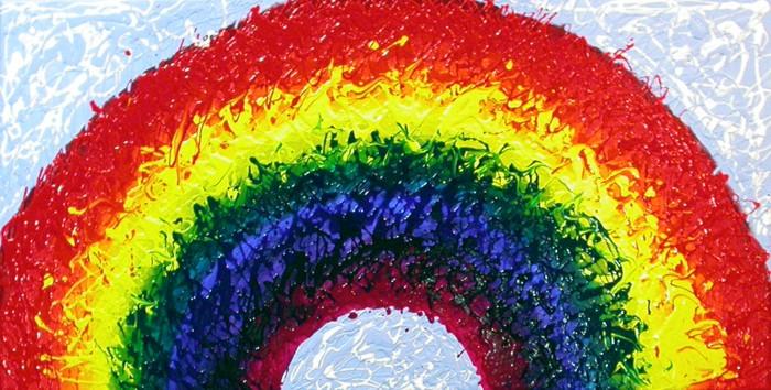 Izzy's Rainbow WIP 1
