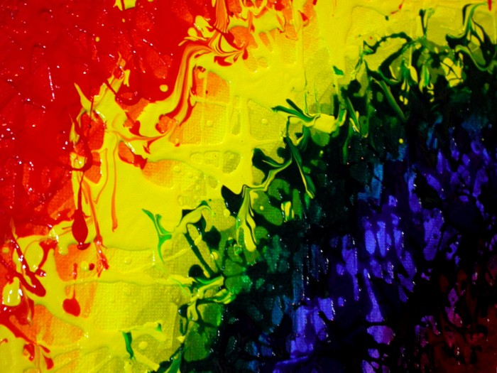 Izzy's Rainbow WIP 1 closeup