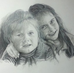 My two girls sketch