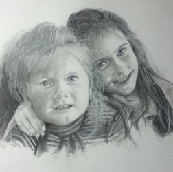 My two girls sketch