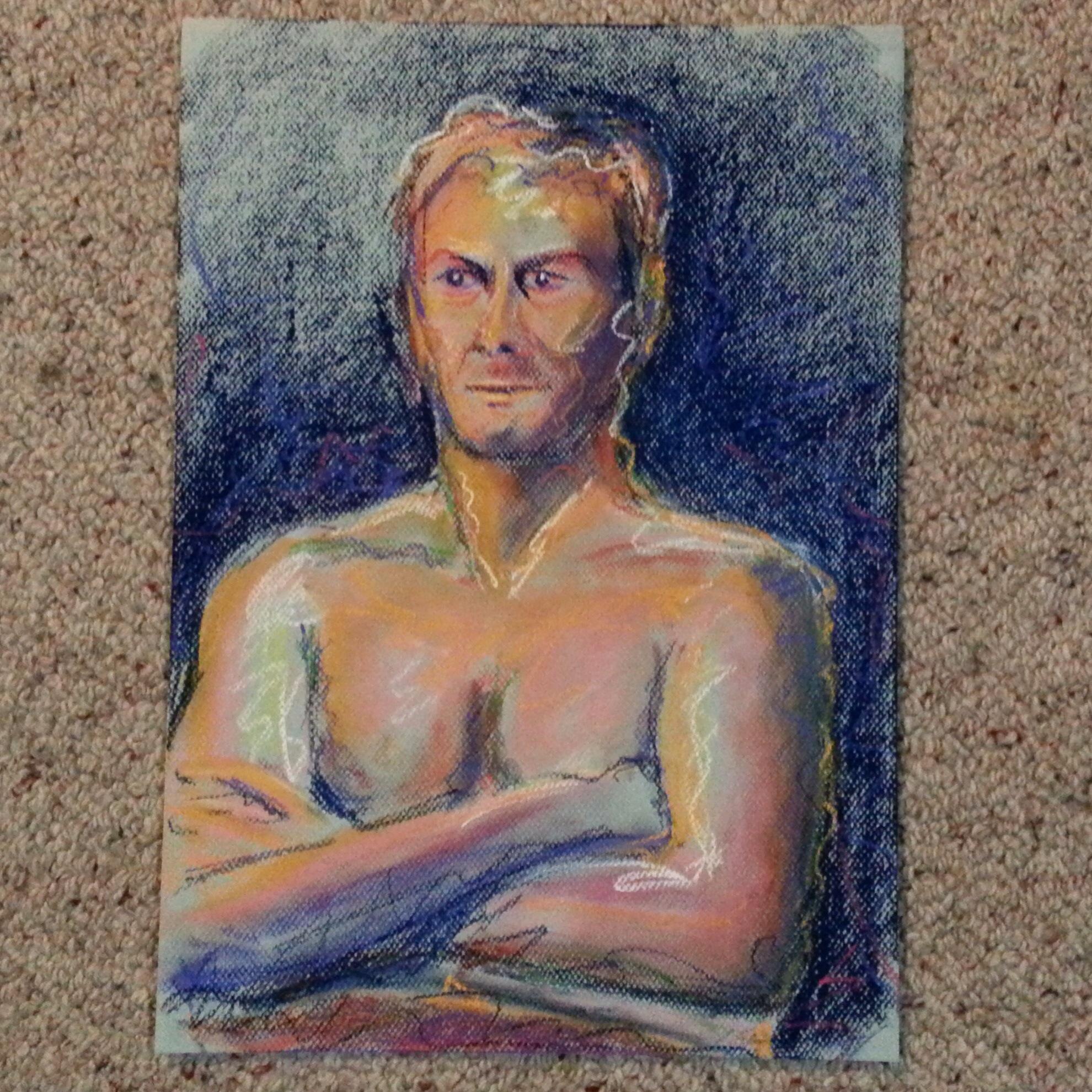Man in pastel
