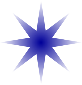 blue gradient star
