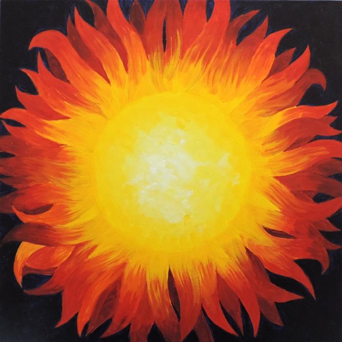 mosaic sun background
