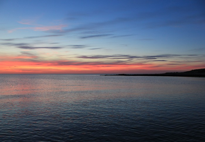 Summer sunset at Wallaroo, South Australia