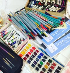 watercolour materials